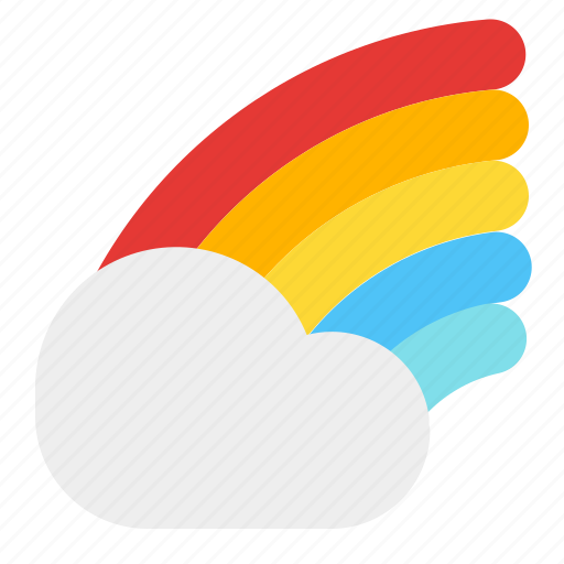 cloud, colourfull, rainbow, weather icon