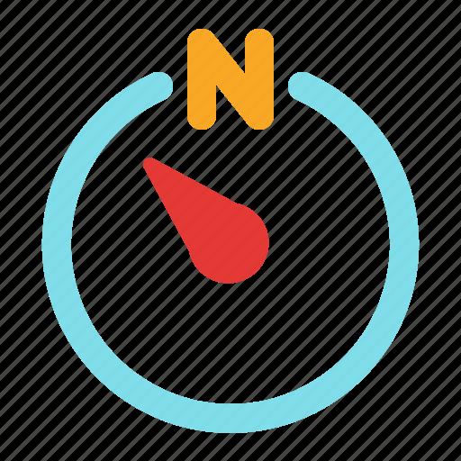 compass, direction, northwest, weather icon