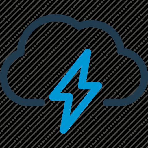 bolt, cloud, forecast, thunder, weather icon
