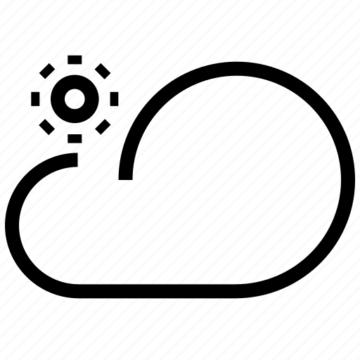 cloud, cloudy, day, forecast, sky, sun, synoptic, weather icon