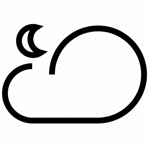 climate, cloud, cloudy, forecast, moon, night, sky, synoptic, weather, weather forecaster icon