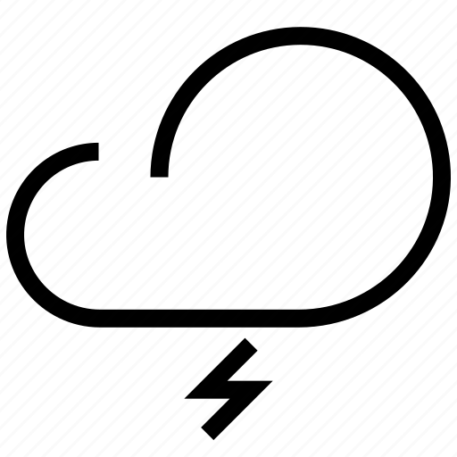 cloud, cloudy, forecast, lightning, night, storm, synoptic, weather, weather forecaster icon