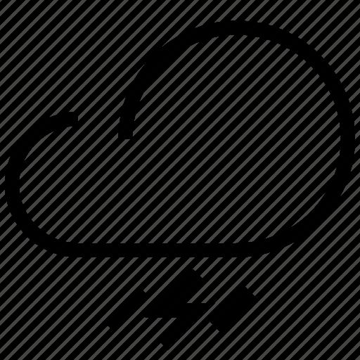 cloud, forecast, lightning, rain, rainfall, storm, synoptic, weather, weather forecaster icon