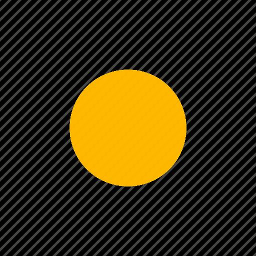 bright, clear day, sun icon