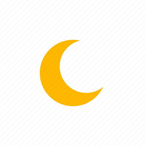clear night, forecast, moon, night, weather icon