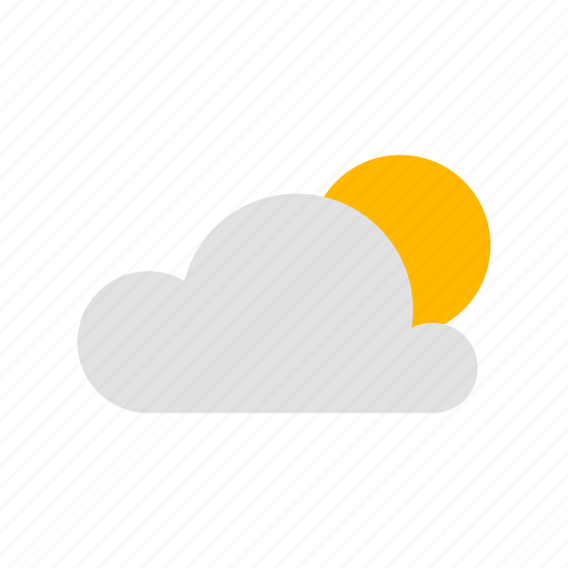 cloud, clouded day, sun icon