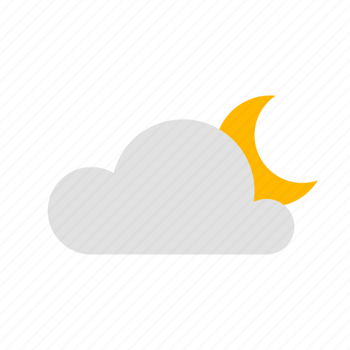 cloud, clouded, night icon