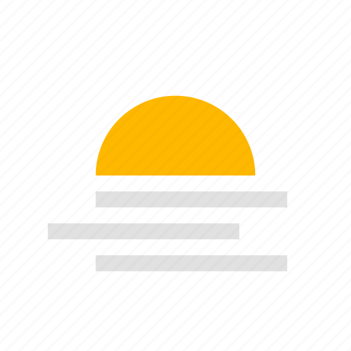 fog, sun icon