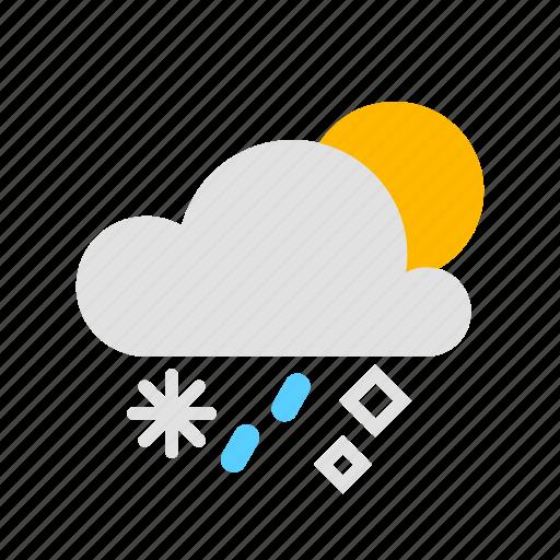 Cloud, hail, rain, snow, sun icon - Download on Iconfinder
