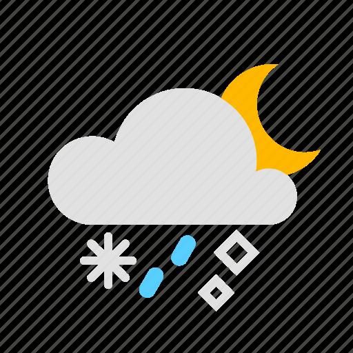 Hail, rain, snow icon