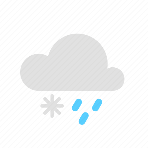 cloud, rain, snow icon