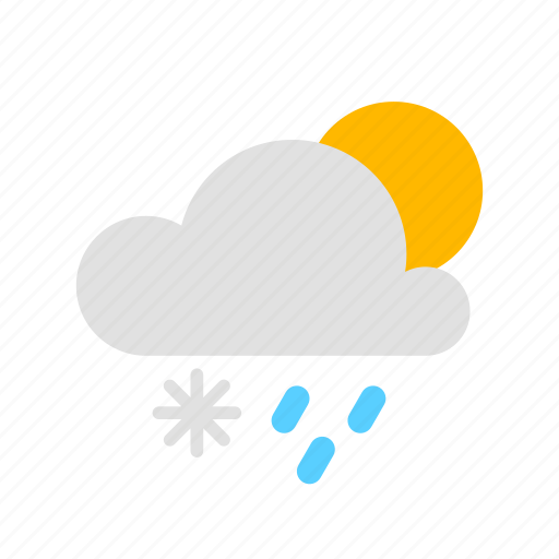 Sun, cloud, rain, snow icon