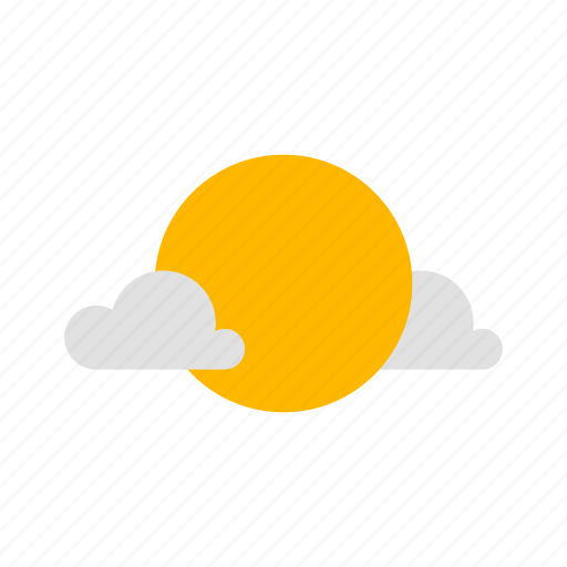 clear day, cloudy, sun icon