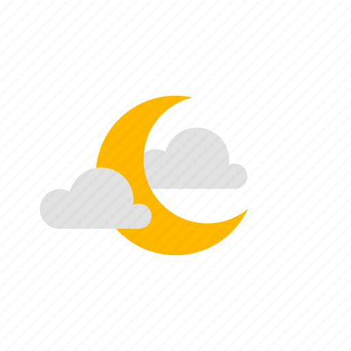 clear night, cloudy, night, weather icon