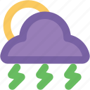 cloudy, pronostic, raining, sunrise, sunset, thunderstorm, weather, winter icon
