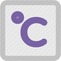celsius, celsius scale, degree, temperature, zero degrees icon