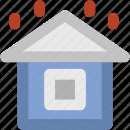 building, heavy rain, home, rain, rainy, rainy house, weather icon