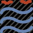 birds, lake, moisture, river, sea, tide, water, water waves icon