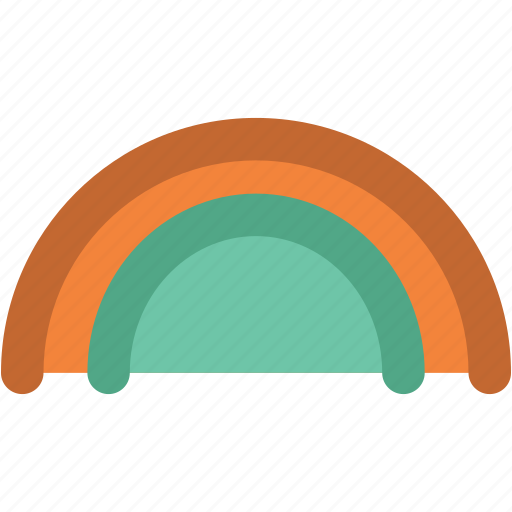 atmosphere, forecast, rainbow, semicircle, sky, sunrays icon