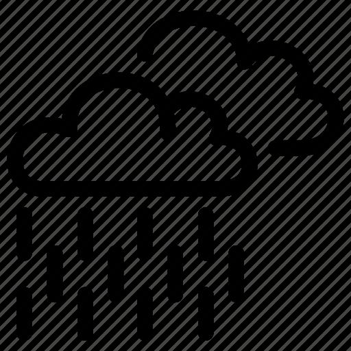 cloud, drizzle, forecast, prediction, rain, weather icon