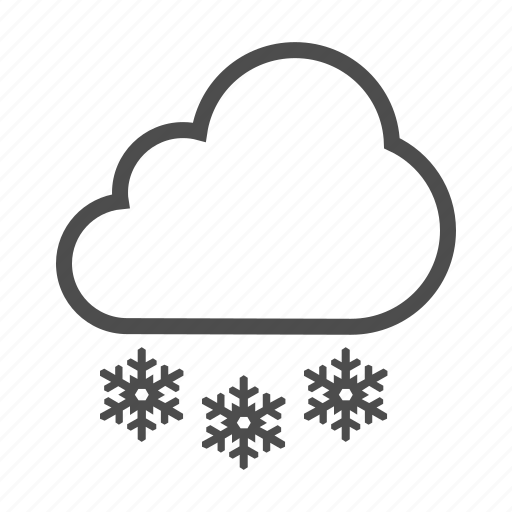 cloud, freeze, frost, snow, snowflake, weather icon