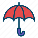 rain, umbrella, weather icon