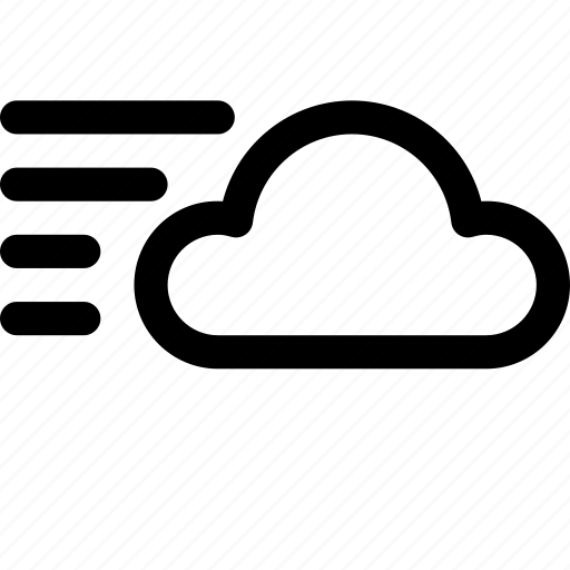 cloud, gust, gusts, gusty, wind, winds, windy icon