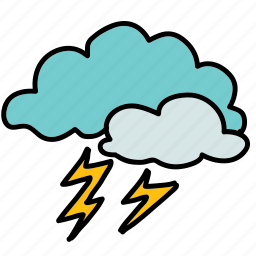 cloud, lightening, storm, thunder, weather icon