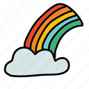 cloud, colour, rainbow, weather icon