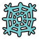 beauty, snow, snowflake, weather, winter icon