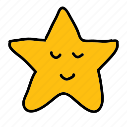 cute, night, smile, star, weather icon