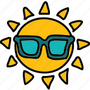 sun, cool, weather, glasses, forecast