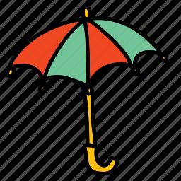 parasol, umbrella, weather icon