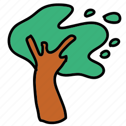 away, blown, hurricane, storm, strong, tree, weather icon