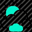 climate, cloud, overcast, season, sun, weather icon