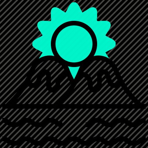 Mountain, sea, sun, sunrise, sunset icon - Download on Iconfinder