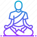 calm, meditation, peace, relax icon