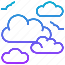cloud, cloudscape, cloudy, season, sky, weather, wind icon