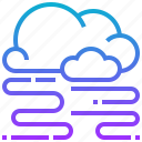 climate, cloud, foggy, season, weather icon