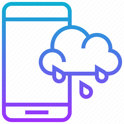 Climate, cloud, forecast, season, smartphone, technology, weather icon - Download on Iconfinder