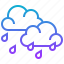 climate, cloud, forecast, rain, season, weather icon
