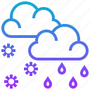 cloud, hailstorm, rain, season, sleeting, weather icon