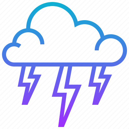 cloud, season, storm, thunder, weather icon