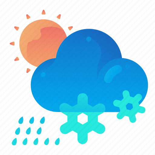 Cloud, day, forecast, rain, snow, weather icon - Download on Iconfinder