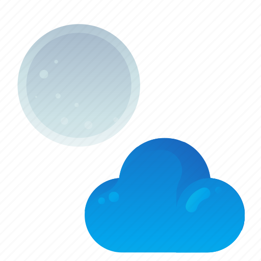 cloud, forecast, night, partly, weather icon