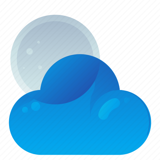 Cloud, forecast, moon, night, partly, weather icon - Download on Iconfinder