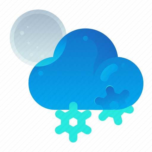 Cloud, forecast, night, snow, weather icon - Download on Iconfinder