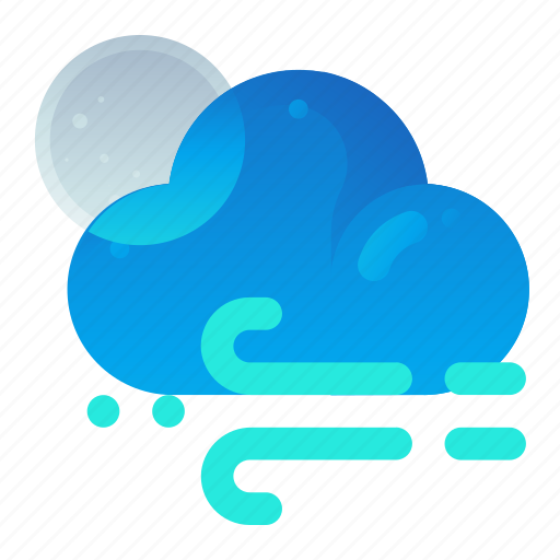 Cloud, forecast, night, weather, wind icon - Download on Iconfinder