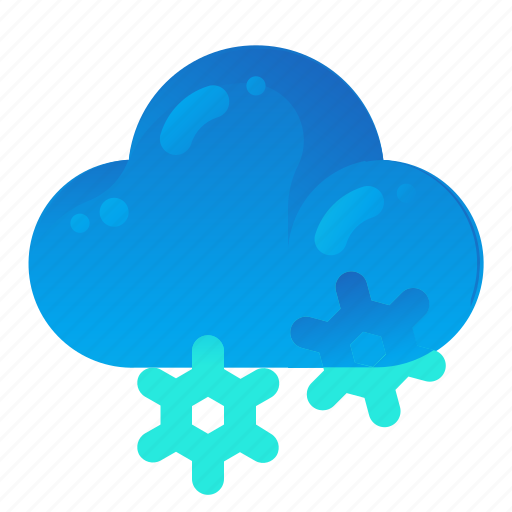 Cloud, forecast, snow, snowing, weather icon - Download on Iconfinder