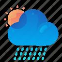 forecast, rain, raining, sunny, weather